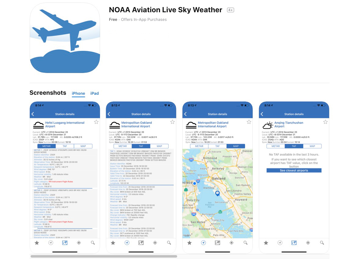 NOAA-Aviation-Live-Sky-Weather-Aviation