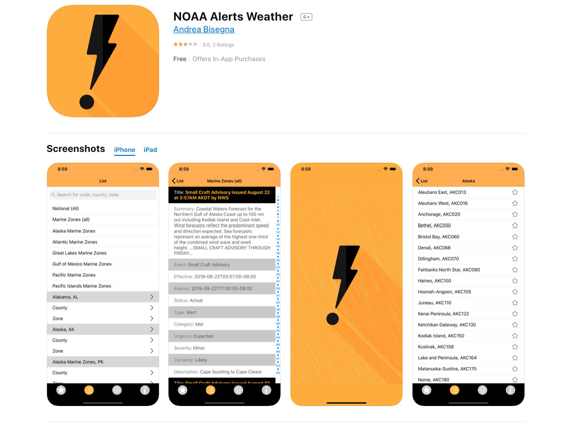 NOAA Alerts Weather